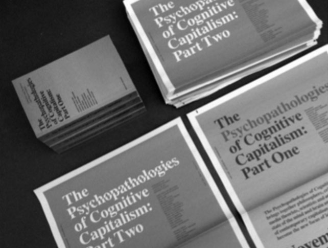 Psychopathologies of Cognitive Capitalism